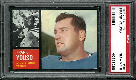 1962 Topps #96 - Frank Youso - PSA 8