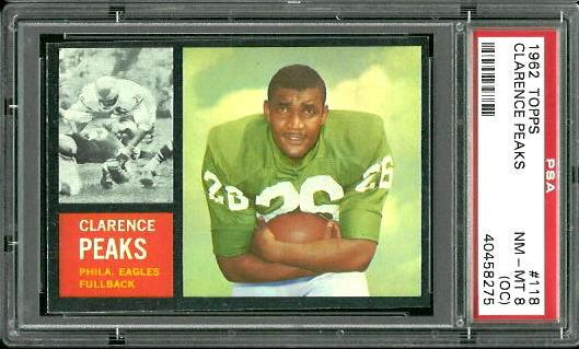 1962 Topps #118 - Clarence Peaks - PSA 8 oc