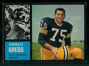 1962 Topps #70 - Forrest Gregg - exmt