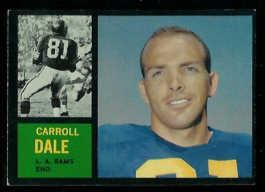 1962 Topps #82 - Carroll Dale - exmt