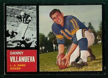 1962 Topps #85 - Danny Villanueva - exmt