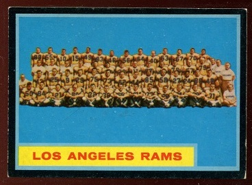 1962 Topps #89 - Los Angeles Rams Team - ex+