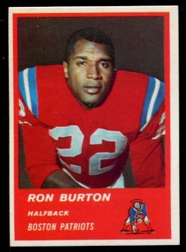 1963 Fleer #3 - Ron Burton - nm