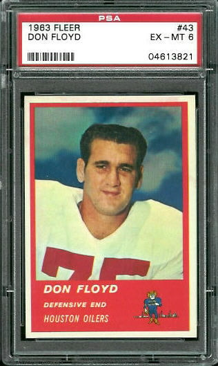 1963 Fleer #43 - Don Floyd - PSA 6