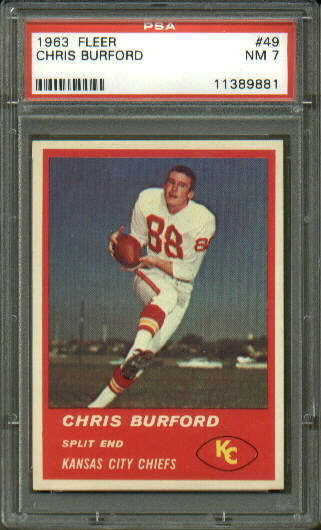 1963 Fleer #49 - Chris Burford - PSA 7