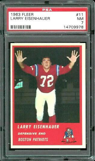 1963 Fleer #11 - Larry Eisenhauer - PSA 7