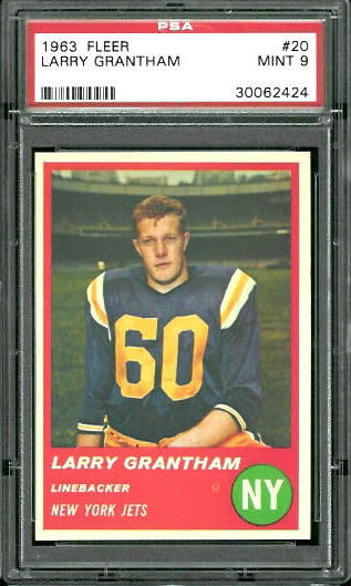 1963 Fleer #20 - Larry Grantham - PSA 9