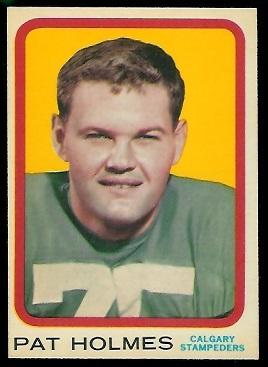 1963 Topps CFL #18 - Pat Holmes - nm