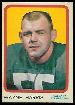 1963 Topps CFL #19 - Wayne Harris - nm