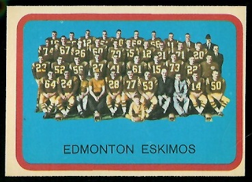 1963 Topps CFL #29 - Edmonton Eskimos Team - nm-mt oc