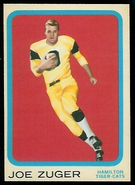 1963 Topps CFL #35 - Joe Zuger - nm