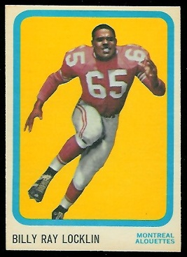 1963 Topps CFL #44 - Billy Ray Locklin - nm