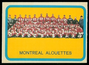 1963 Topps CFL #49 - Montreal Alouettes Team - exmt