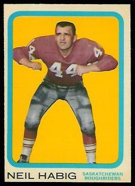 1963 Topps CFL #62 - Neil Habig - nm