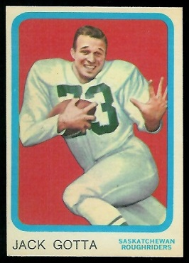 1963 Topps CFL #63 - Jack Gotta - nm