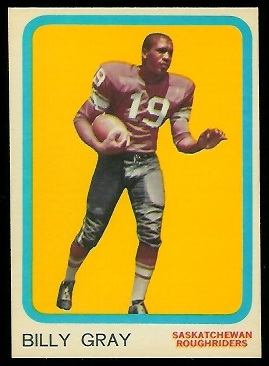 1963 Topps CFL #64 - Billy Gray - exmt