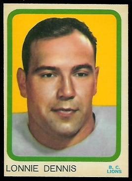 1963 Topps CFL #9 - Lonnie Dennis - nm