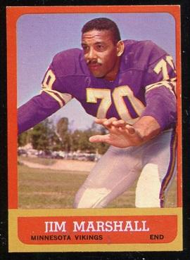 1963 Topps #107 - Jim Marshall - exmt