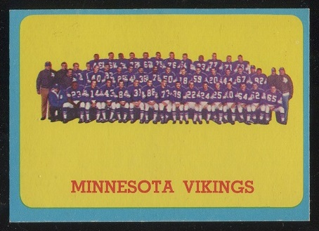 1963 Topps #109 - Minnesota Vikings Team - nm