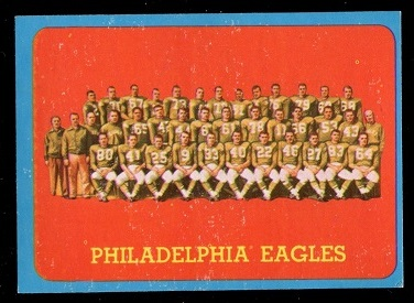 1963 Topps #121 - Philadelphia Eagles Team - ex