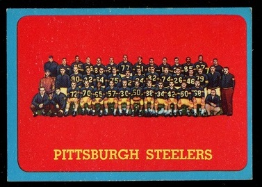 1963 Topps #133 - Pittsburgh Steelers Team - exmt