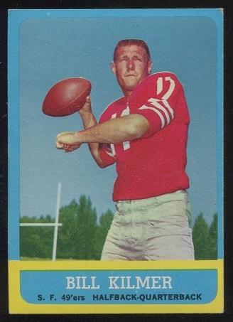 1963 Topps #136 - Bill Kilmer - exmt