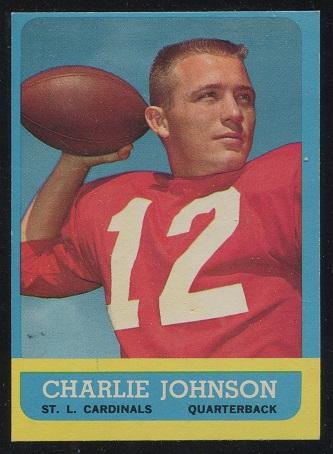 1963 Topps #146 - Charley Johnson - exmt