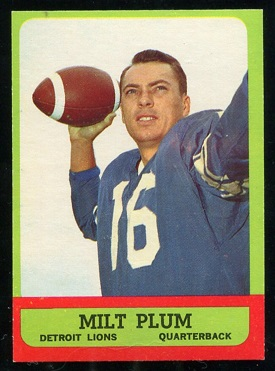 1963 Topps #25 - Milt Plum - nm oc