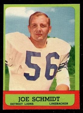 1963 Topps #35 - Joe Schmidt - exmt