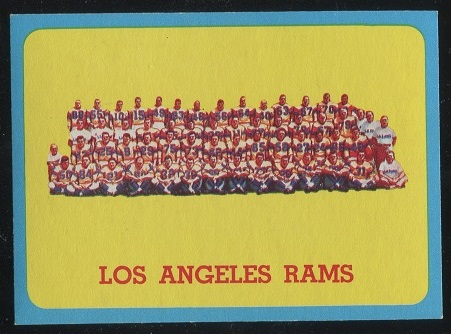 1963 Topps #48 - Los Angeles Rams Team - nm