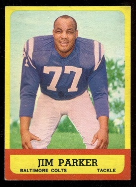1963 Topps #5 - Jim Parker - exmt