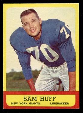 1963 Topps #59 - Sam Huff - nm