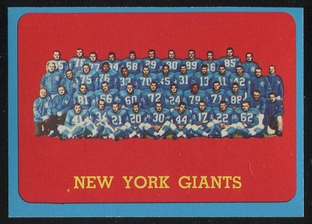 1963 Topps #60 - New York Giants Team - exmt+
