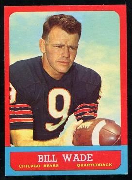 1963 Topps #61 - Bill Wade - ex