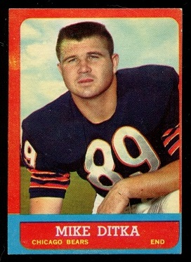 1963 Topps #62 - Mike Ditka - ex