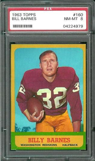 1963 Topps #160 - Bill Barnes - PSA 8