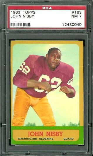 1963 Topps #163 - John Nisby - PSA 7
