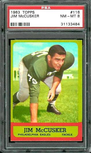 1963 Topps #116 - Jim McCusker - PSA 8