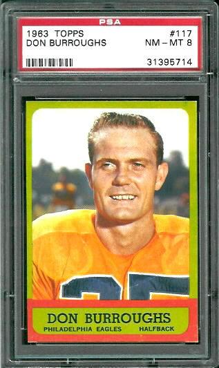 1963 Topps #117 - Don Burroughs - PSA 8