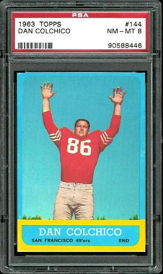 1963 Topps #144 - Dan Colchico - PSA 8