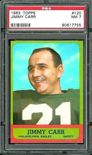 1963 Topps #120 - Jimmy Carr - PSA 7