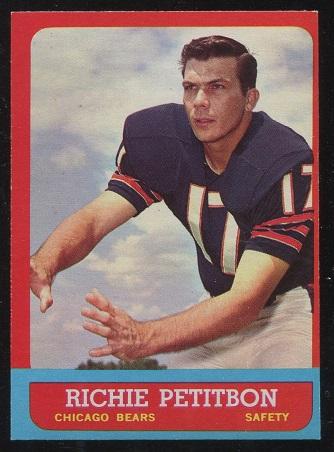 1963 Topps #71 - Richie Petitbon - exmt