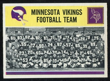 1964 Philadelphia #111 - Minnesota Vikings Team - ex+