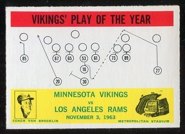 1964 Philadelphia #112 - Vikings Play of the Year - nm
