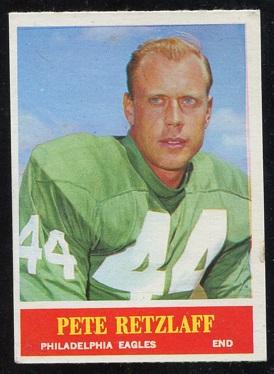 1964 Philadelphia #136 - Pete Retzlaff - ex