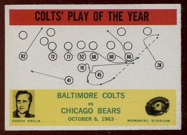 1964 Philadelphia #14 - Colts Play of the Year - exmt