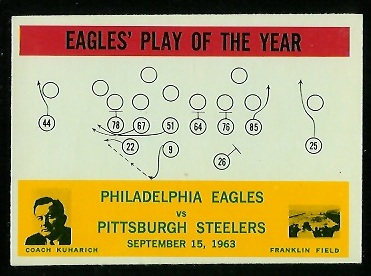 1964 Philadelphia #140 - Eagles Play of the Year - nm