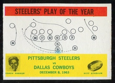 1964 Philadelphia #154 - Steelers Play of the Year - exmt