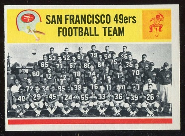 1964 Philadelphia #167 - San Francisco 49ers Team - nm+
