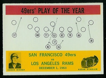 1964 Philadelphia #168 - 49ers Play of the Year - nm